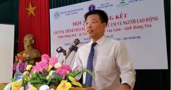 Báo cáo tổng kết chương trình hỗ trợ thải độc chì cho trẻ em và người lao...