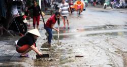 Đề phòng một số bệnh thường gặp sau bão lụt
