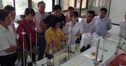 Viện Sức khỏe nghề nghiệp và môi trường thực hiện Quan trắc môi trường y tế...
