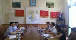 Chỉ đạo tuyến tại TTYTDP tỉnh Hưng Yên. 30/06/2015