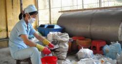 Phương pháp xử lý và tiêu hủy đối với từng loại chất thải rắn y tế