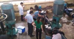 Viện Sức khỏe nghề nghiệp và môi trường tham gia công tác kiểm tra chất...