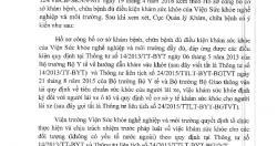 Văn bản thực hiện khám sức khỏe theo TT số 14/2013/TT-BYT và TTLT số...