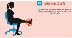 15 bài tập vận động cho người lao động làm việc với tư thế ngồi
