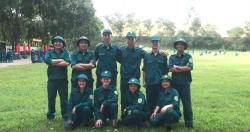 Viện Sức khỏe nghề nghiệp và môi trường tham gia huấn luyện tự vệ tại chỗ...