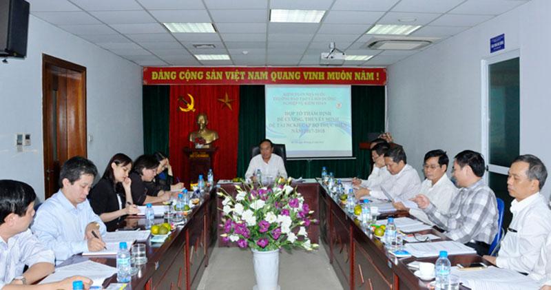 Nghiệm thu đề tài nghiên cứu khoa học cấp cơ sở do Th.S Lương Thị Thanh Thủy làm chủ nhiệm