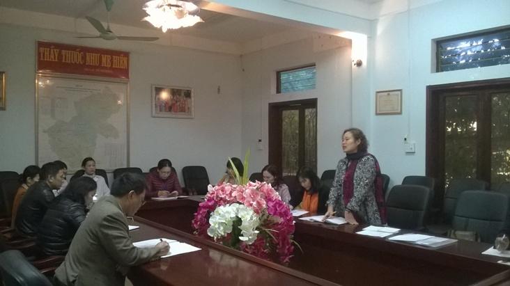 Chỉ đạo tuyến tại Trung tâm Y tế dự phòng tỉnh Hà Giang 01/01/2017