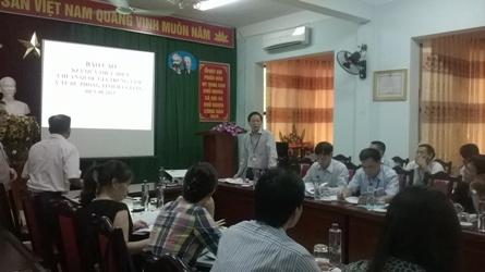 Giám sát tiến độ đạt Chuẩn quốc gia Y tế dự phòng tỉnh Hà Giang và Tuyên Quang (26-27/8/2015). 31/08/2015