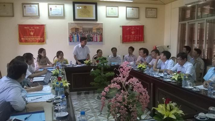 Giám sát tiến độ đạt Chuẩn quốc gia Y tế dự phòng tỉnh Hải Dương và Hải Phòng (27/5/2015)