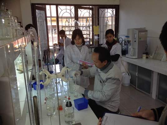 Lớp tập huấn  Kỹ thuật xét nghiệm các chỉ tiêu hóa lý trong nước thải