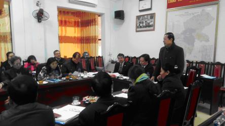 Thẩm định kết quả đạt Chuẩn quốc gia Y tế dự phòng tỉnh Hà Giang (31/12/2015)