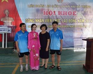 """Viện sức khỏe nghề nghiệp và môi trường giành giải ba nội dung bóng bàn tại """"Hội khỏe công nhân..."""