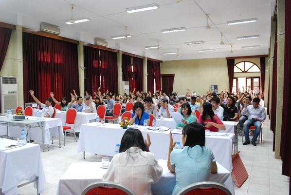 Đại hội công nhân viên chức Viện Sức khỏe nghề nghiệp và môi trường