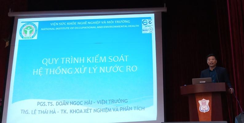 Hội nghị tập huấn về các qui trình vận hành, bảo dưỡng sửa chữa hệ thống máy lọc thận.